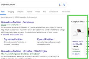 Campaña de Shopping en Google con COMOon